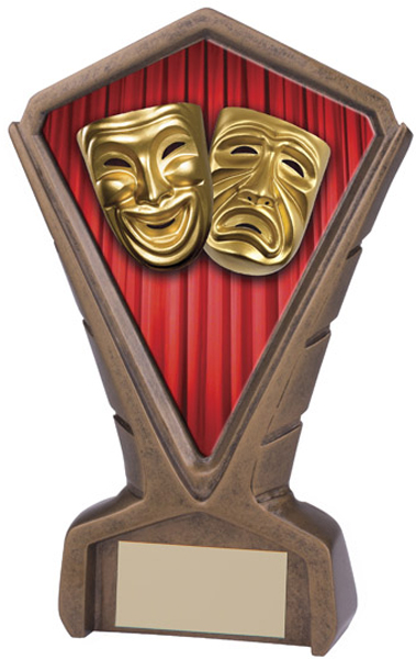 "Gold Resin Phoenix Drama Centre Trophy 17cm (6.75"")"