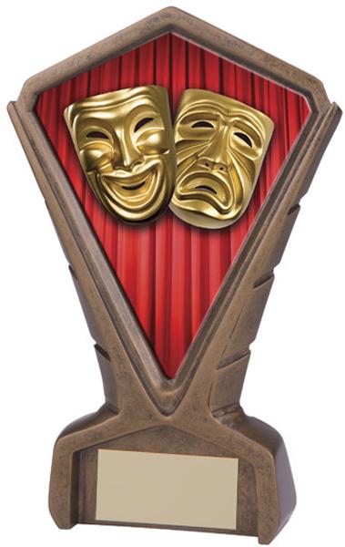 "Gold Resin Phoenix Drama Centre Trophy 17cm (6.75"")"