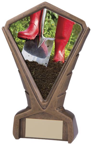 "Gold Resin Phoenix Gardening Centre Trophy 17cm (6.75"")"