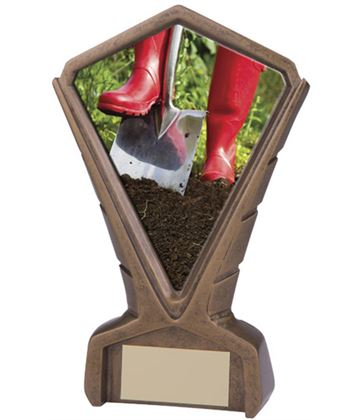 "Gold Resin Phoenix Gardening Centre Trophy 17cm (6.75"")"