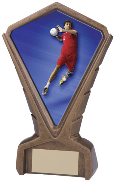 "Gold Resin Phoenix Handball Centre Trophy 17cm (6.75"")"