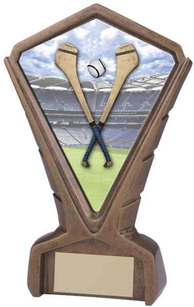 "Gold Resin Phoenix Hurling Centre Trophy 17cm (6.75"")"