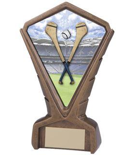 "Gold Resin Phoenix Hurling Centre Trophy 17cm (6.75"")"