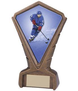 "Gold Resin Phoenix Ice Hockey Centre Trophy 17cm (6.75"")"