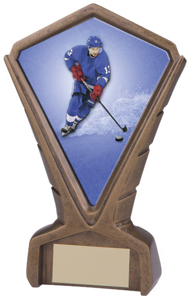 "Gold Resin Phoenix Ice Hockey Centre Trophy 17cm (6.75"")"