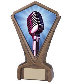 "Gold Resin Phoenix Talent / Karaoke Centre Trophy 17cm (6.75"")"