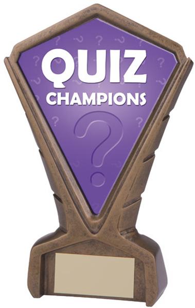 """Gold Resin Phoenix Quiz Centre Trophy 17cm (6.75"""")"""