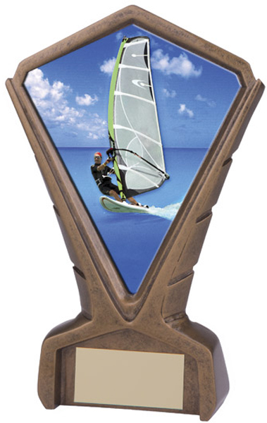 "Gold Resin Phoenix Windsurfing Centre Trophy 17cm (6.75"")"