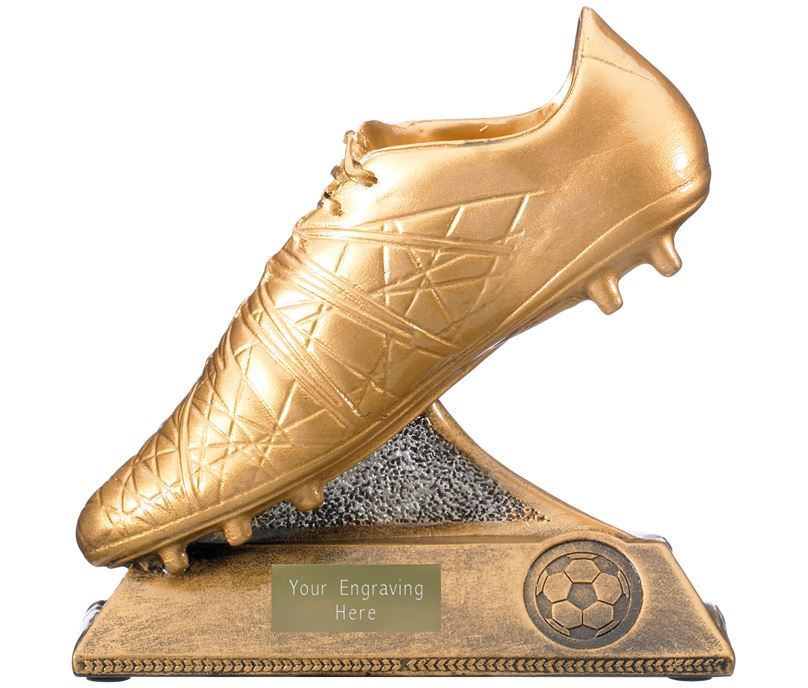 "Golden Boot Trophy Antique Gold 15cm (6"")"