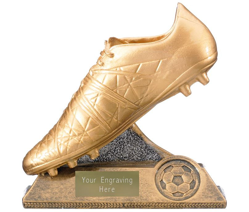 "Golden Boot Trophy Antique Gold 12.5cm (5"")"