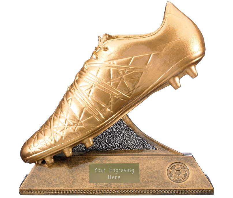 "Golden Boot Trophy Antique Gold 23cm (9"")"