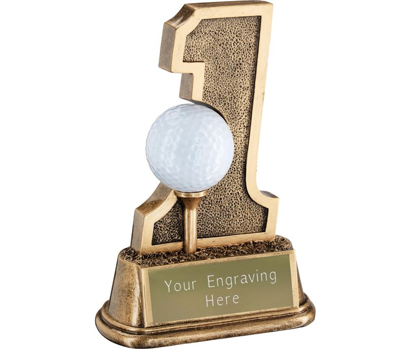 "Hole in One Golf Ball Tee Holder Trophy 15cm (6"")"