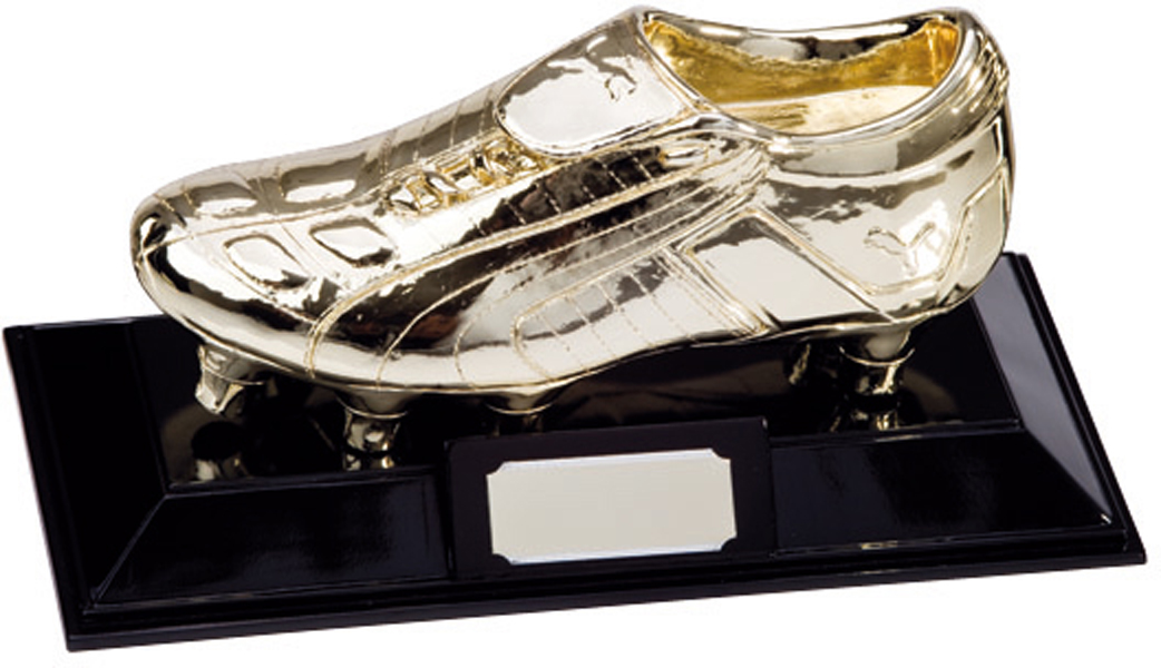 "Metallic Resin Puma King Golden Boot Football Trophy 16.5cm (6.5"")"