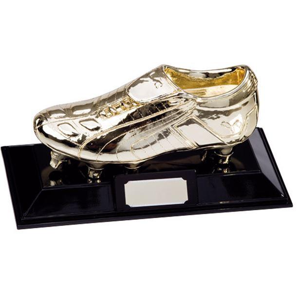 "Metallic Resin Puma King Golden Boot Football Trophy 16.5cm (6.5"")"