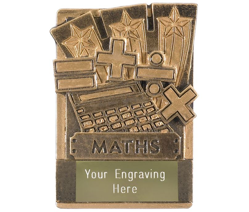 "Maths Fridge Magnet Award 8cm (3.25"")"