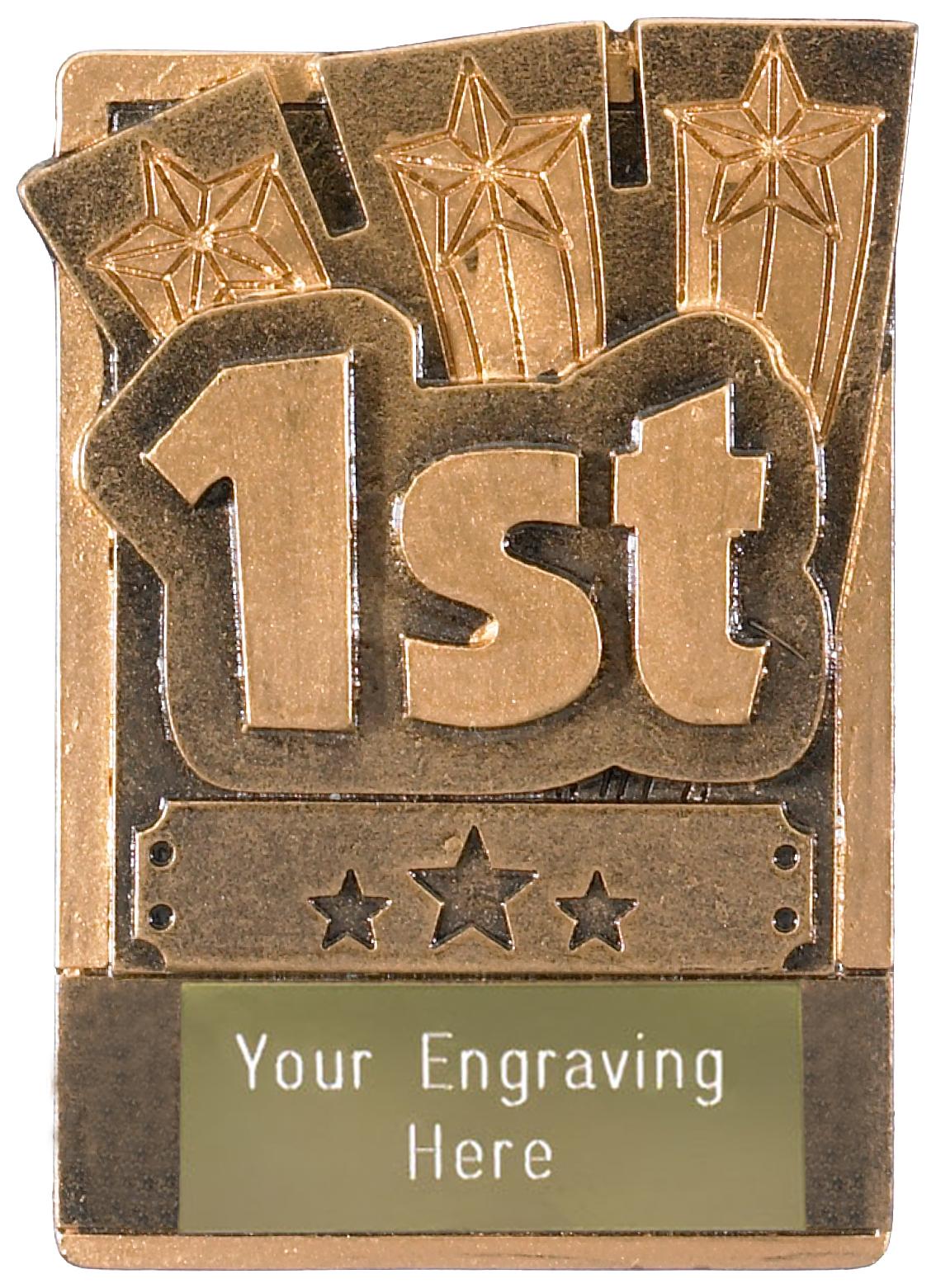 "1st Place Fridge Magnet Award 8cm (3.25"")"