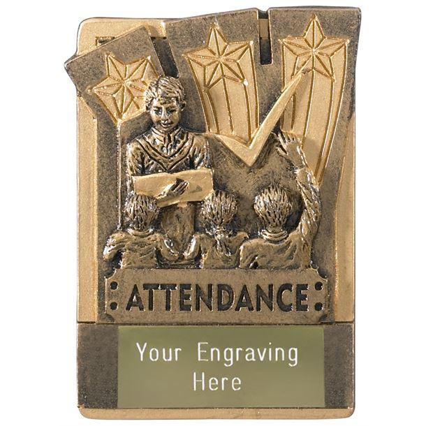"""Attendance Fridge Magnet Award 8cm (3.25"""")"""