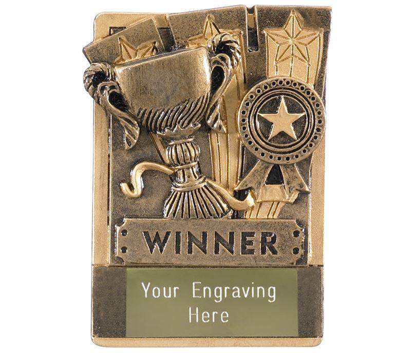 """Winner Fridge Magnet Award 8cm (3.25"""")"""