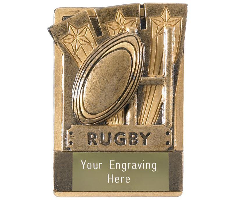 "Rugby Fridge Magnet Award 8cm (3.25"")"