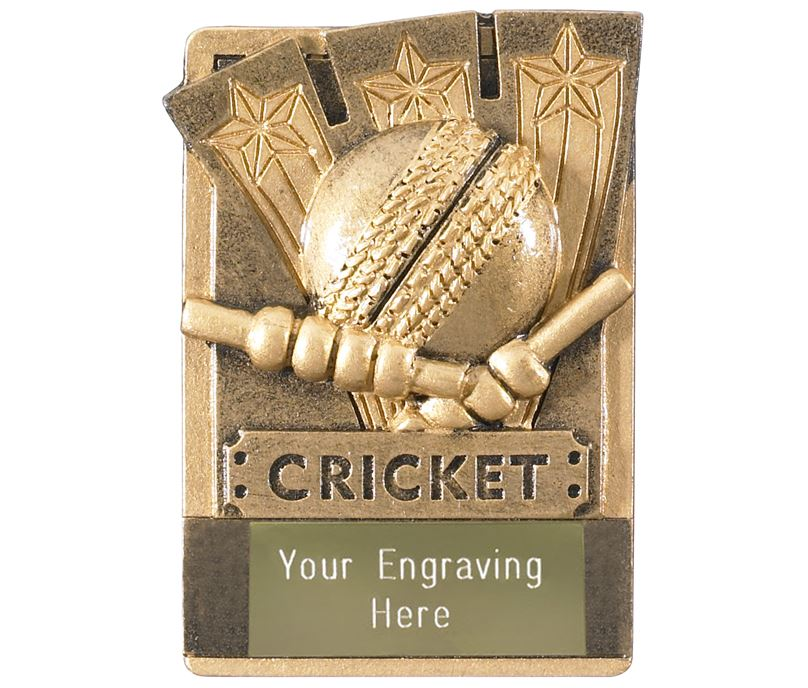 "Cricket Fridge Magnet Award 8cm (3.25"")"