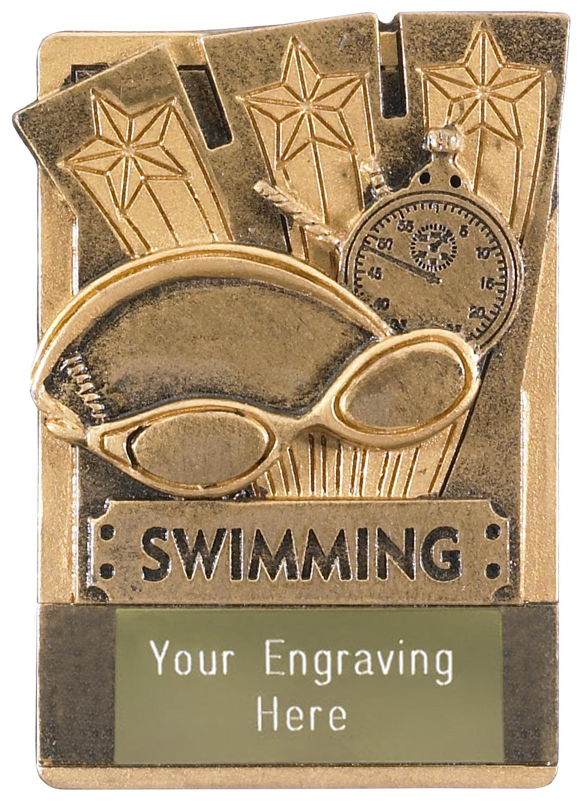 """Swimming Fridge Magnet Award 8cm (3.25"""")"""