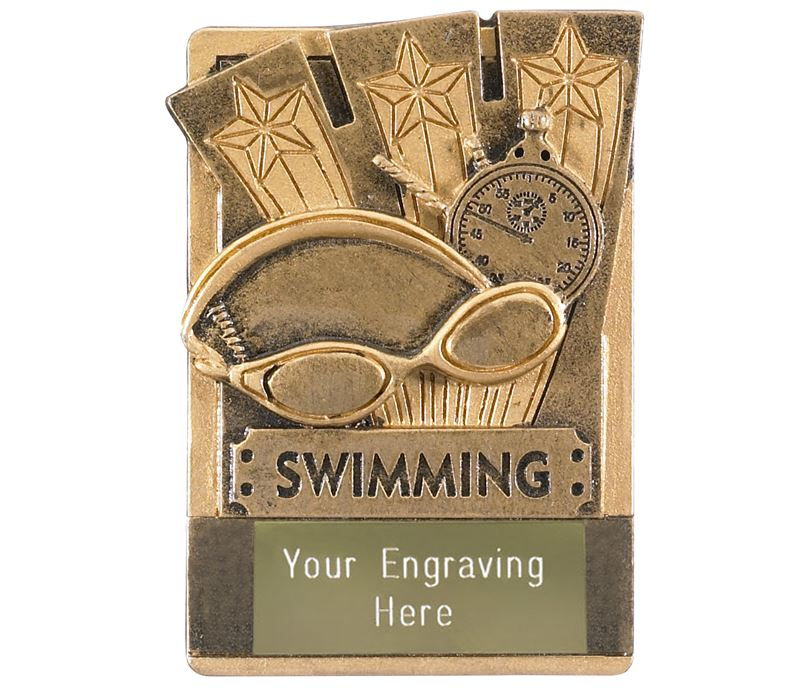 "Swimming Fridge Magnet Award 8cm (3.25"")"