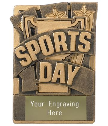 "Sports Day Fridge Magnet Award 8cm (3.25"")"