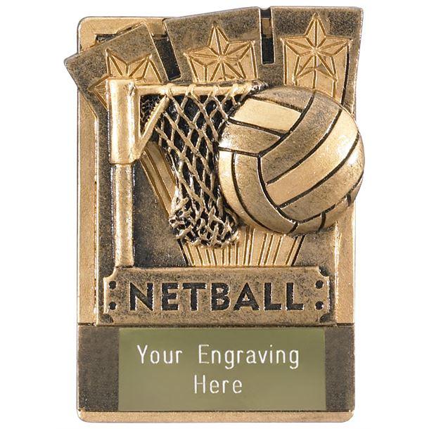 """Netball Fridge Magnet Award 8cm (3.25"""")"""