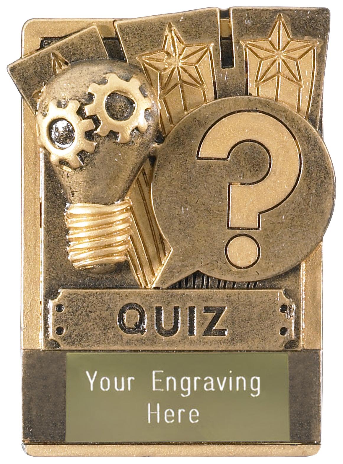 "Quiz Fridge Magnet Award 8cm (3.25"")"