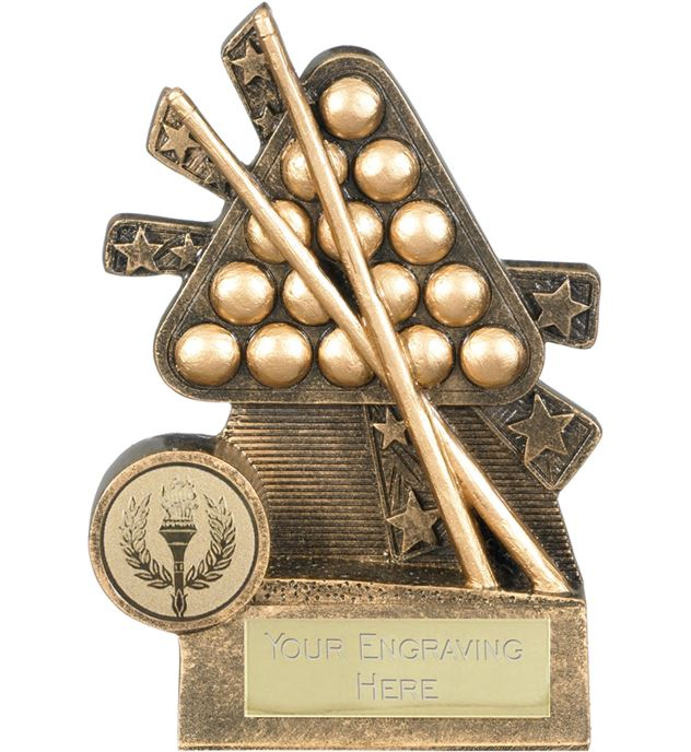 """Snooker & Pool Balls Trophy with Centre Disc 12cm (4.75"""")"""