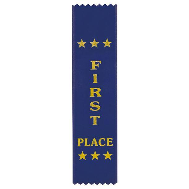 "1st Place Award Ribbon Blue 20cm x 5cm (8"" x 2"")"