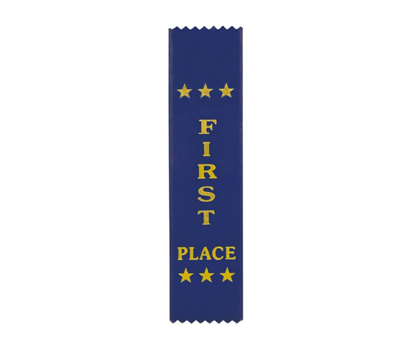 "1st Place Award Ribbon Blue 20cm x 5cm (8"" x 2"")"