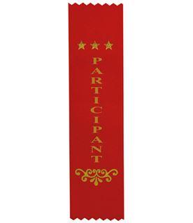 "Participant Award Ribbon Red 20cm x 5cm (8"" x 2"")"