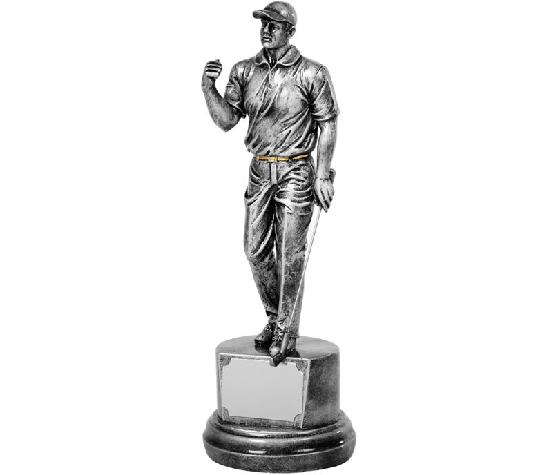 "Antique Silver Golf Winner Trophy 26.5cm (10.5"")"