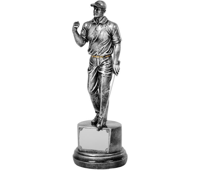 "Antique Silver Golf Winner Trophy 26.5cm (10.5"")"