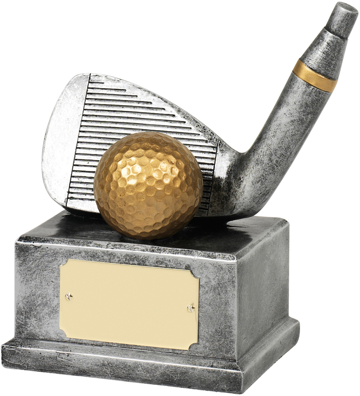 """Antique Silver Resin Nearest The Pin Golf Trophy 14cm (5.5"""")"""