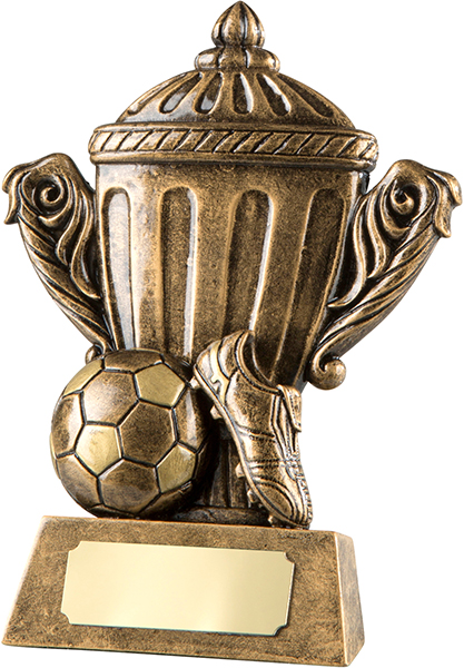 "Antique Gold Resin Football Trophy Cup 12.5cm (5"")"