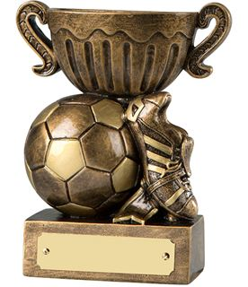 "Antique Gold Resin Football Trophy Cup 12cm (4.75"")"