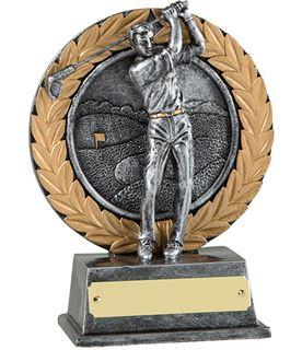 """Silver Golfer & Gold Laurel Wreath Golf Trophy 15cm (6"""")"""