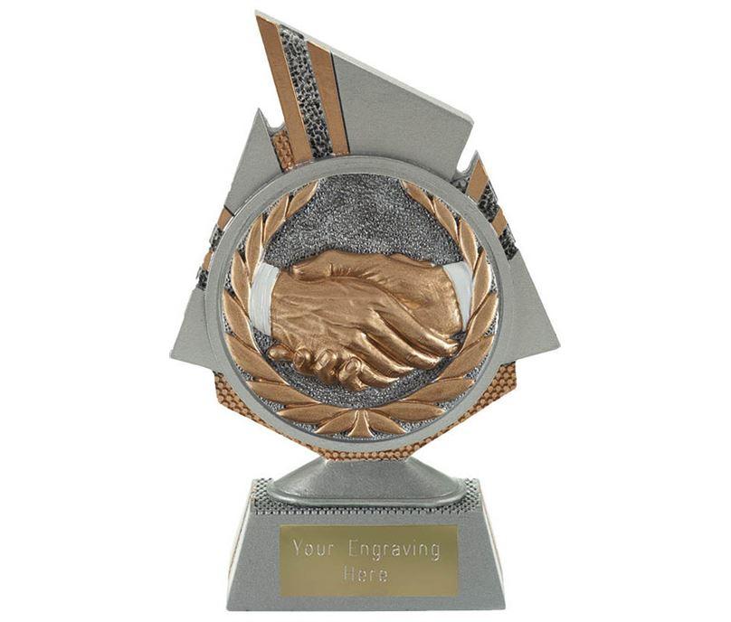 "Shard Handshake Trophy 15cm (6"")"