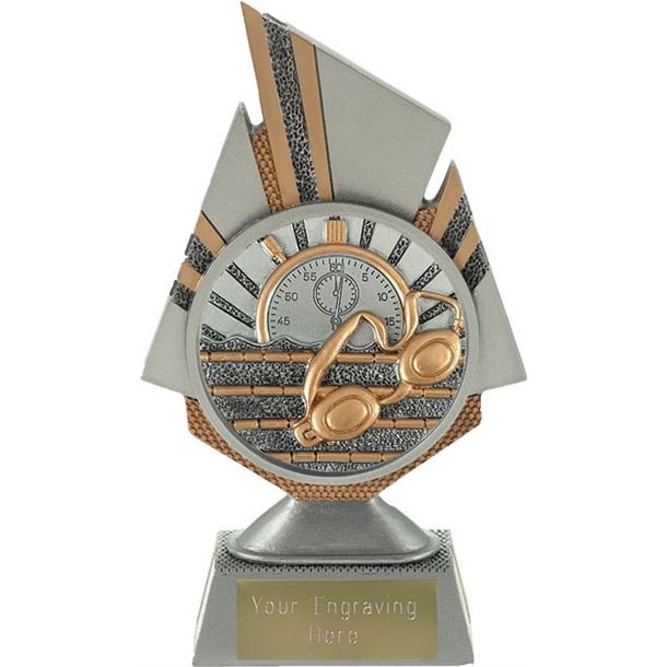 "Shard Swimming Trophy 17.5cm (6.75"")"