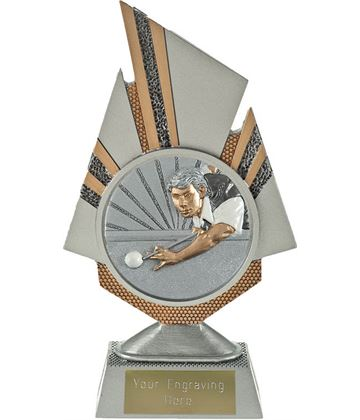 "Shard Snooker Player Trophy 19.5cm (7.75"")"