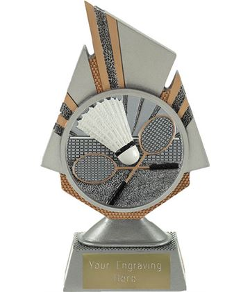 "Shard Badminton Trophy 17.5cm (6.75"")"