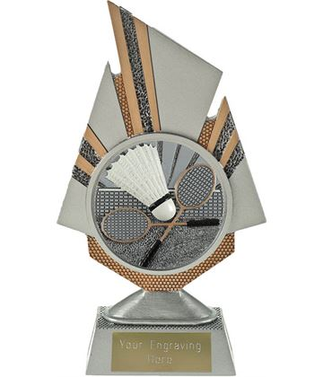 "Shard Badminton Trophy 19.5cm (7.75"")"