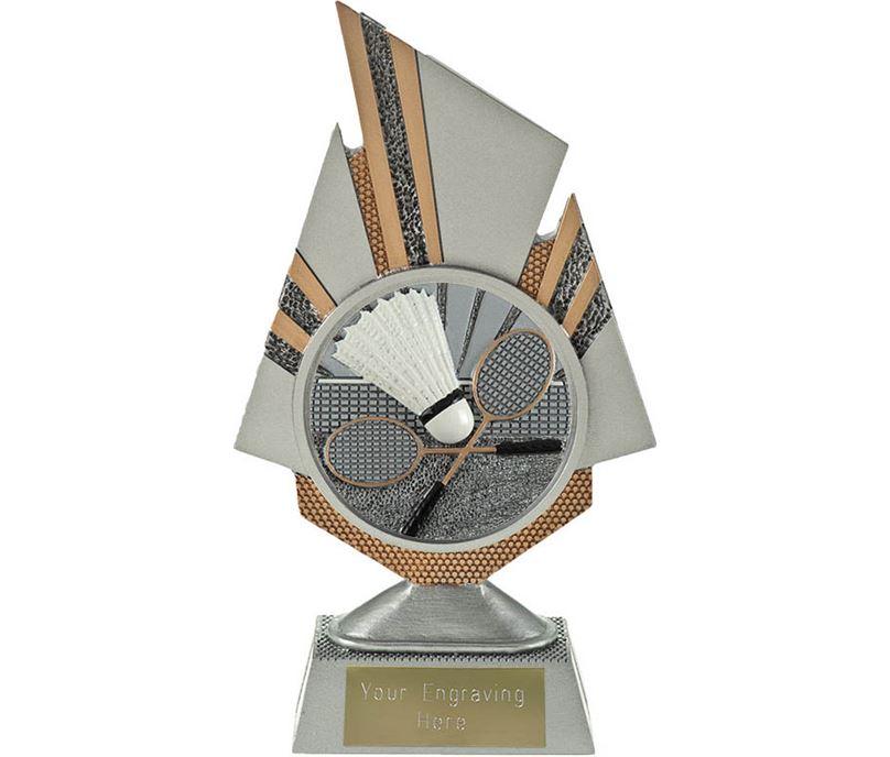 "Shard Badminton Trophy 19.5cm (7.75"")"