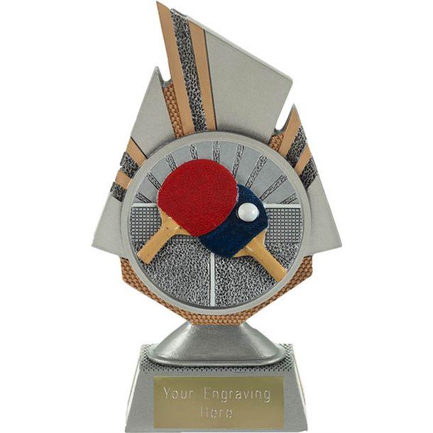 "Shard Table Tennis Trophy 17.5cm (6.75"")"