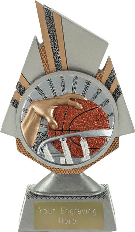"Shard Basketball Trophy 17.5cm (6.75"")"