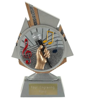 "Shard Music Trophy 15cm (6"")"