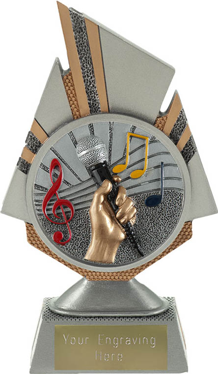 "Shard Music Trophy 17.5cm (6.75"")"
