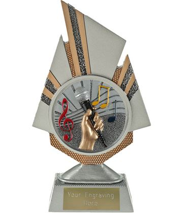 "Shard Music Trophy 19.5cm (7.75"")"